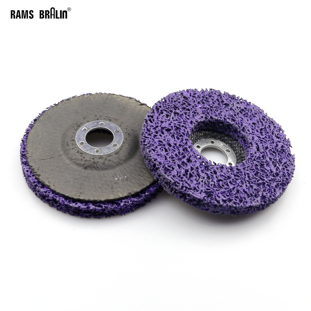 2 pieces 5/125mm Poly Strip Disc Abrasive Wheel Paint Rust Removal Clean Angle Grinder Tools