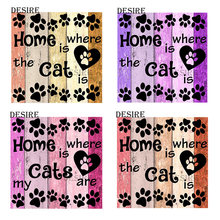 Desire Diamond Painting Cross Stitch Text Letter Color Cat Home Square Drill Picture Of Rhinestone DIY Diamond Embroidery PT1725(China)