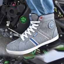 SHAD ملابس واقية دراجة نارية ركوب الأحذية دراجة نارية أحذية الشارع سباق الأحذية تنفس السائق الأحذية دراجة نارية الأحذية