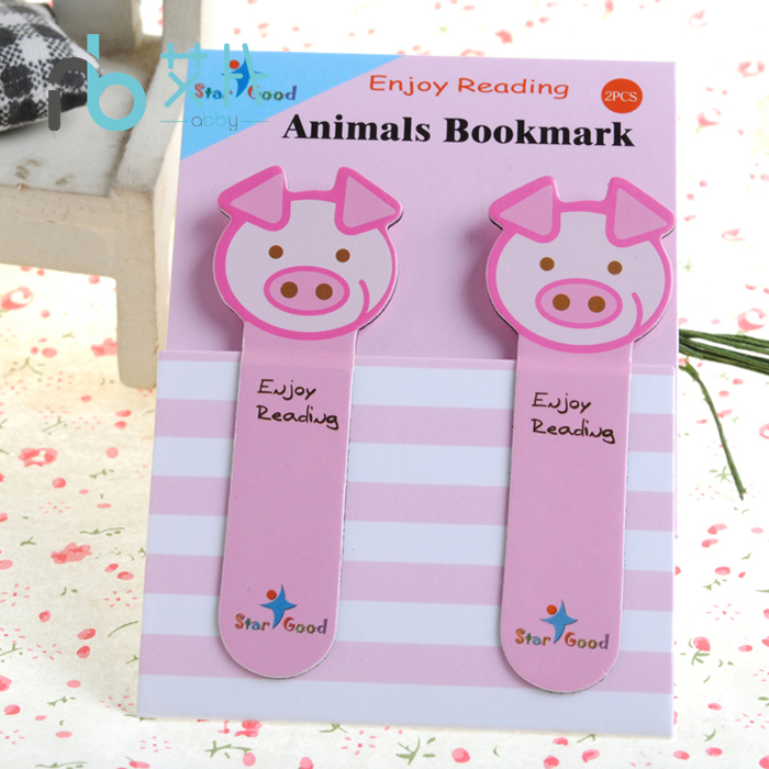 Free Shipping Cartoon Animal Magnetic Bookmark Small Animal Student Stationery Small Star Good Enjoy Reading Animals Bookmark