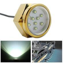 Lámpara LED subacuática para piscina y estanque, 9x3W, aleación de titanio, enchufe de drenaje para barco, Luz Marina, 11 28V