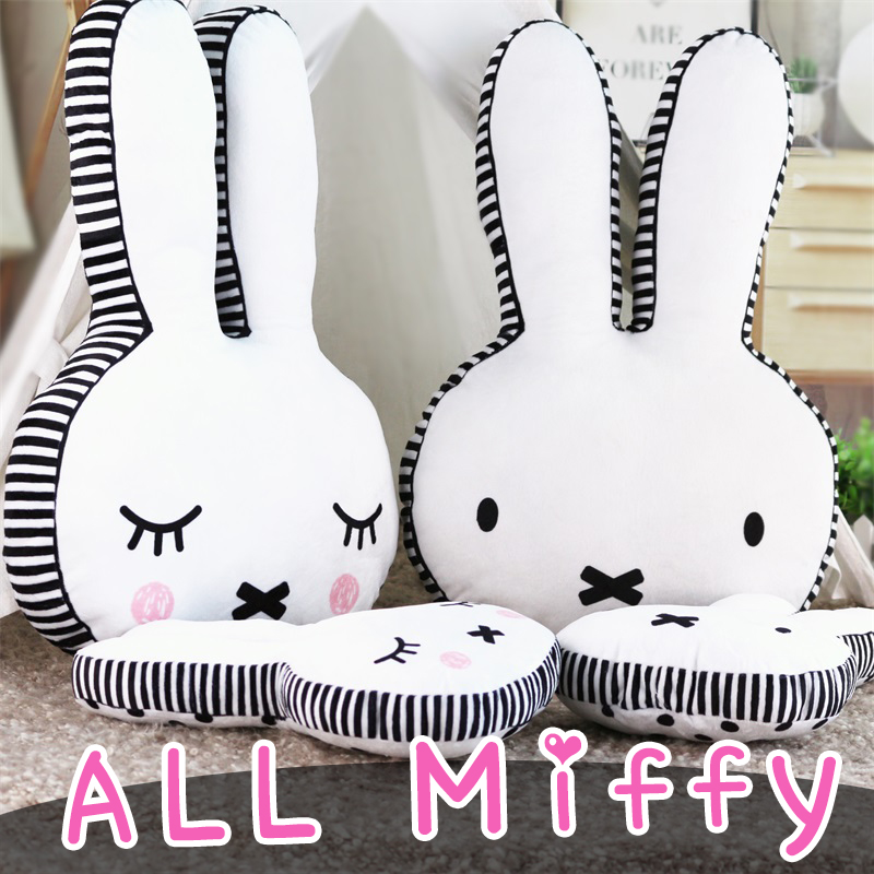 wholesale Cartoon rabbit feather cushion Cute cartoon pillow Anime toy baby kids sleep appease doll birthday/Xmas gift