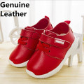 Newest 1pair Genuine Leather Baby Sneaker, Baby boy/Girl soft shoes, inner 15-17cm