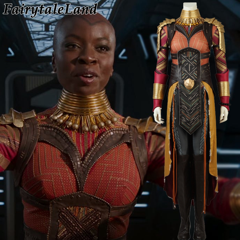 2018 Panthère noire Okoye Cosplay Costume Carnaval Halloween costume Cosplay Avengers Infinity War Okoye costume Costume