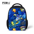 2016 sea world fish printing back pack for boys and girls infantil schoolbags for kindergarten school bag,back pack kids