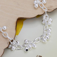 Fashion Accessories 925 Silver Color Bracelets For Women Frosted Grape Drop Chain Bracelet Charming Anniversary Jewelry Gift