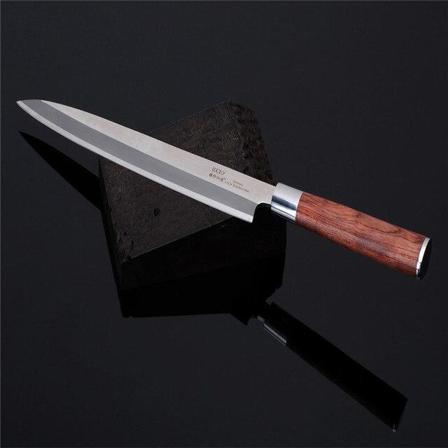 Sashimi Knife slicer Germany SS Rosewood handle Salmon fish fillet knife Kitchen Knife left-hand blade Knives freeship9.01 2