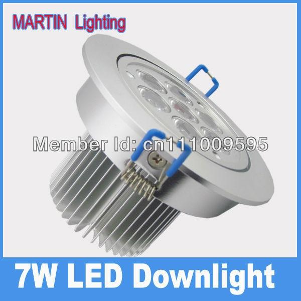 7W high power LED industrial spot down lighting lamp 750lm  aluminum alloy shell AC85-265v