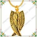 CMJ9139 Oro CREMACIÓN URNA Conmemorativa de Recuerdo Personal con Grandes Alas Del Ángel de los encantos kolye