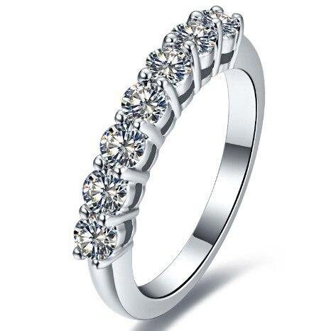 0,7 Carat Sona Simulierten Stein Unendlichkeit Hochzeit Ringe Für Frauen, Hochzeit Bands, Sterling Silber Ringe Drop Shipping Strukturelle Behinderungen