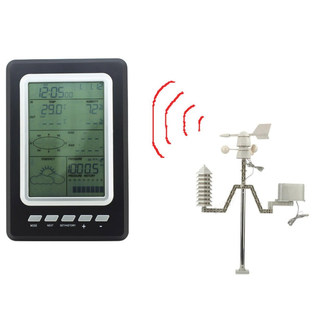 Professional Solar Wireless Meteorological Station Household Weather Station Weather Forecaster Wireless ThermometerProfessional Solar Wireless Meteorological Station Household Weather Station Weather Forecaster Wireless Thermometer