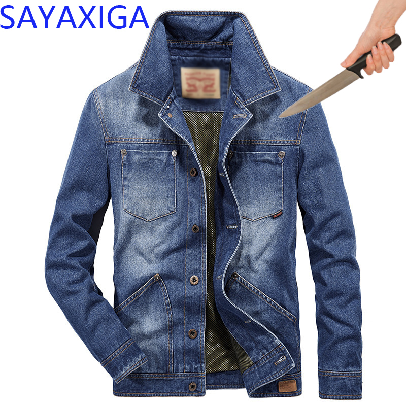 Jackets Self Defense Tactical Anti Cut Knife Cut Resistant Denim Jacket Anti Stab Proof Cutfree Stabfree Military Security Jeans Coat 2019 Latest Style Online Sale 50% Jackets & Coats