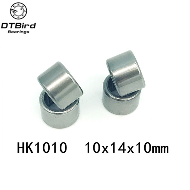 Free shipping 10pcs <font><b>HK1010</b></font> 57941/10 needle roller bearing +whosale and retail draw cup bearing 10X14X10mm image