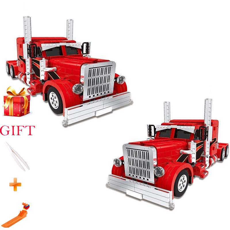 1505PCS Xingbao Genuine Technic MOC Kit Building Blocks Red Truck Child Assembled Pellet Model Toy Holiday Gift1505PCS Xingbao Genuine Technic MOC Kit Building Blocks Red Truck Child Assembled Pellet Model Toy Holiday Gift