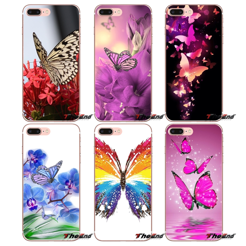 Colorful Butterfly Wallpaper Soft Case For iPhone X 4 4S 5 5S 5C SE 6 6S 7 8 Plus Samsung Galaxy