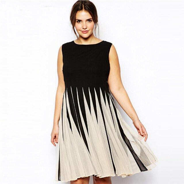 8ebf240f86 6xl 5xl kobiety biuro sukienka 2016 lato Plus rozmiar luźne elegancki  O-Neck lniana sukienka