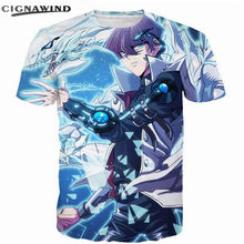 New funny t shirts Men/Women Duel Monsters Seto Kaiba Print t-shirt Anime YuGiOh Monster hip hop tshirt streetwear summer tops(China)