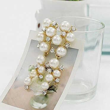 Infery ขายร้อนองุ่นธรรมชาติเทียม Pearl Drop Dangles ต่างหูสำหรับงานแต่งงานชุดเจ้าสาวแฟชั่นเครื่องประดับ 1E094