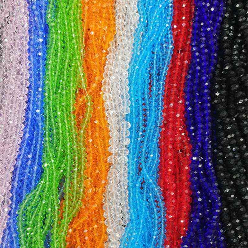Bracelet Jewelry Making DIY 4/6/8mm Cheap New Hot Fashion Scattered beads Crystal Glass Beads Assorted Colorful Spacer Beads for