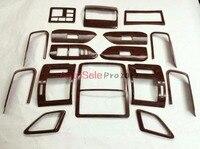 Car Styling Texture Of Peach Trees Texture Of Peac Interior Cover Trim Chrome For Toyota Prado
