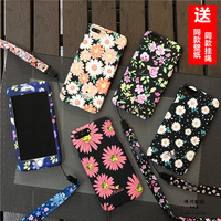 For IPhone 7 7plus Case Cute Flowers Floral 360 Full Range Protection Front Back Cover Coque