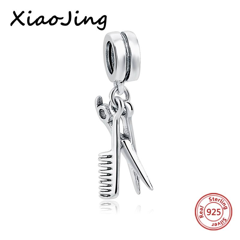 Fit Authentic Pandora Bracelet Silver 925 charms Original Scissors comb Charms Beads Pendant For Women bead Jewelry making Gift strollgirl car keys 100% sterling silver charm beads fit pandora charms silver 925 original bracelet pendant diy jewelry making