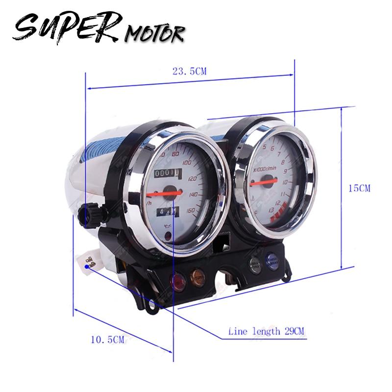 Motorfiets Snelheidsmeter Toerenteller Meter Gauge - Motoraccessoires en onderdelen - Foto 4