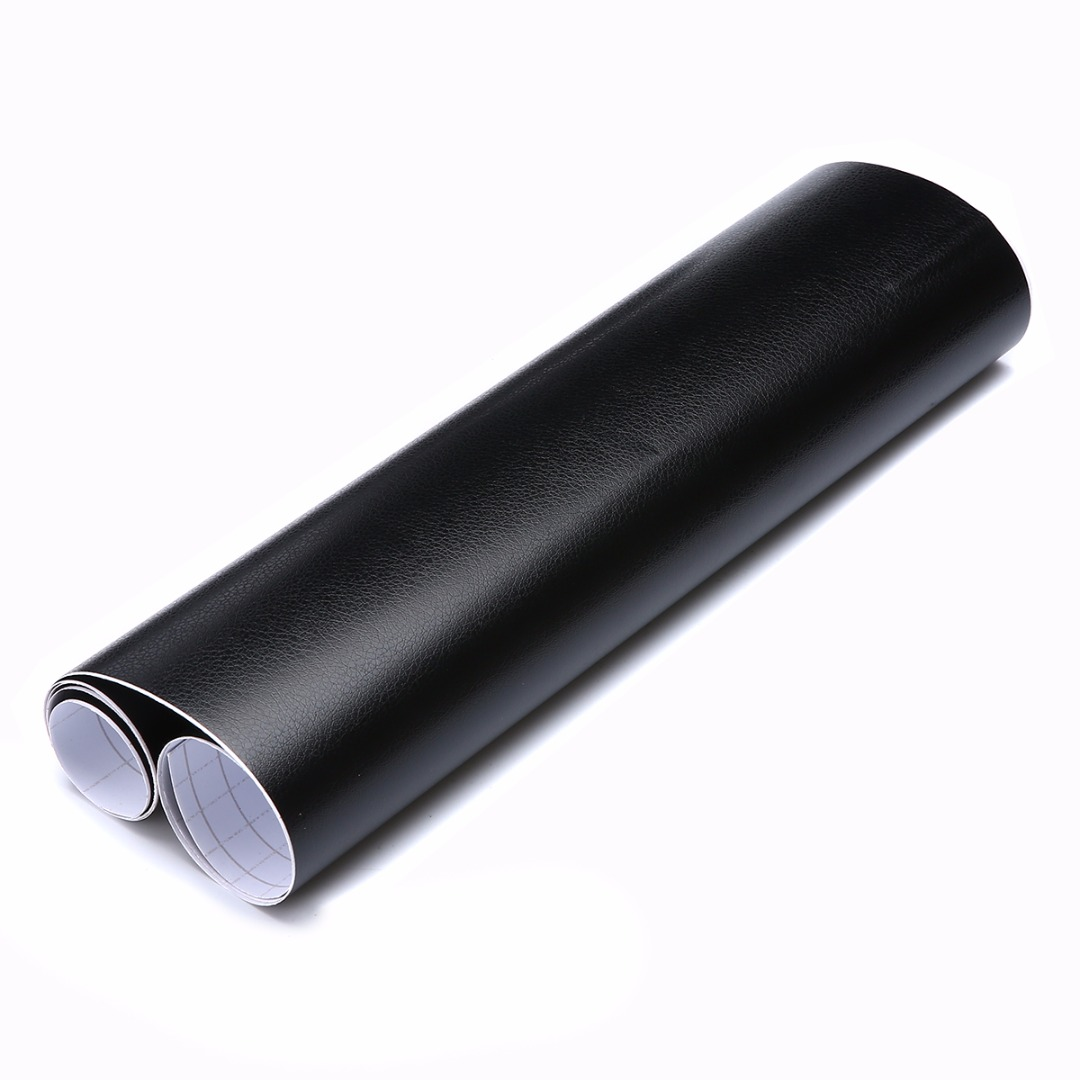 100X30cm Black Leather Texture DIY Car Interior Dashboard Sticker Trim Vinyl Wrap Sheet Film PVC Stickers Car Styling in Car Stickers from Automobiles Motorcycles