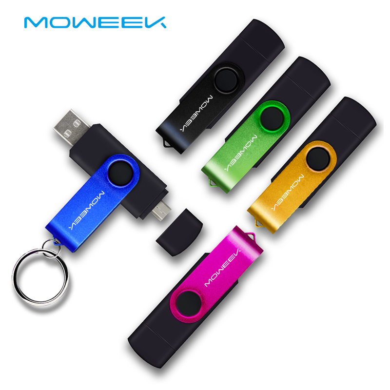 Moweek USB Flash Drive 2017 new cle usb stick 128G otg pen drive usb 2.0 Smartphone Pendrive 4/8/16/32/64G storage devices gift(China)