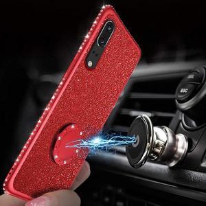 Image 5 - Блестящий Алмазный чехол для XiaoMi Mi A2 lite RedMi Note 7 8 Pro 7s 6 6A 6 PRO 5 Plus Note 5 Pro K20 с магнитным кольцом на 360 градусов