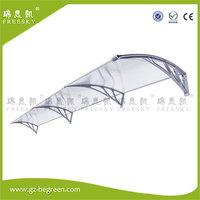 YP120360 120x360cm Polycarbonate Awning Awning Door Canopy Pc Window Canopy Depth 120cm Width 300cm