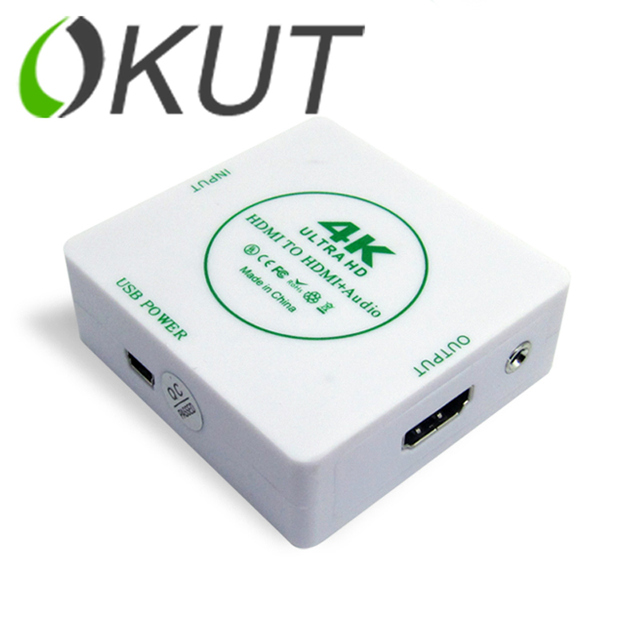 OKUT 1080 P HD MINI HDMI к HDMI + AUDIO Video Converter Decoder Adapter Удалить HDCP Согласования КЛЮЧЕЙ Audio Сепаратор с USB Кабель