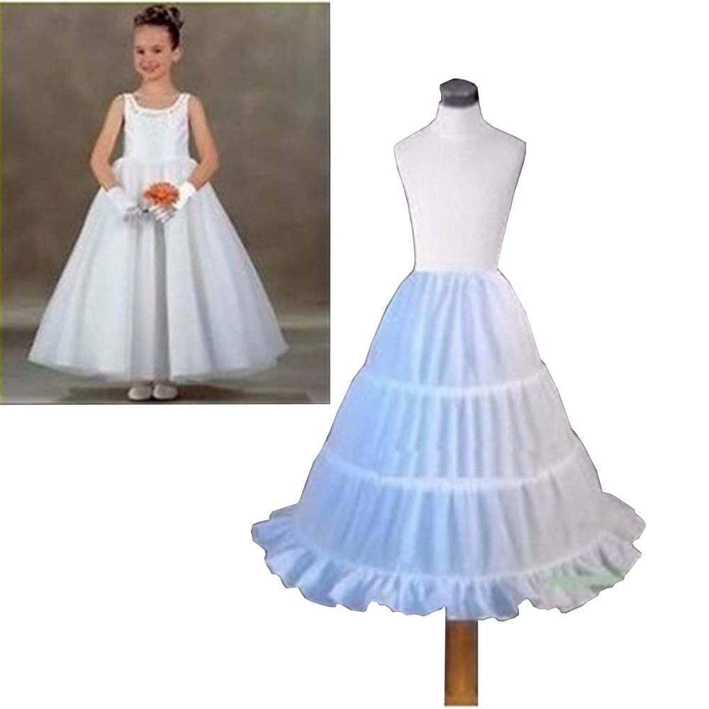 ANTI New A-line 3 Hoops Children Kid Dress Bridal Petticoat Crinoline Underskirt Wedding Accessories For Flower Girl Dress 2019