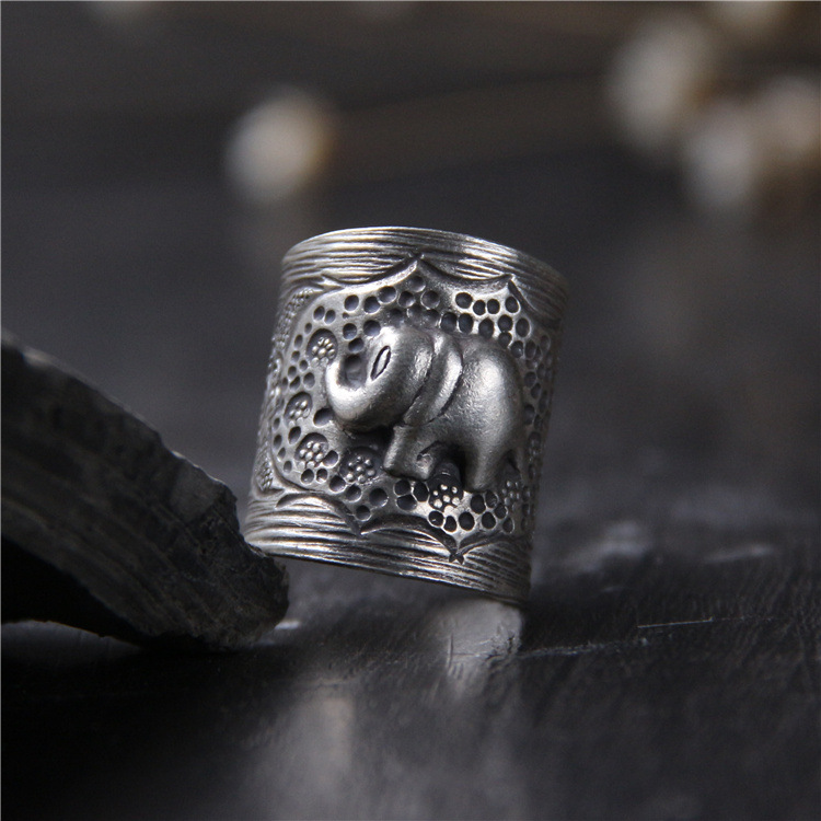 2018 Time-limited Top Fashion Anel Feminino 925 Sterling Elephant Ring Thai Do Old Men And To Restore Ancient Ways Openings 2018 Time-limited Top Fashion Anel Feminino 925 Sterling Elephant Ring Thai Do Old Men And To Restore Ancient Ways Openings