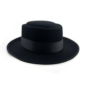 Image 4 - 60cm Fedora Men Autumn Felt Pork Pie Crushable Hat BREAKING BAD Hat Walter Winter Retro Fedora hat Classic Church Trilby YY18110