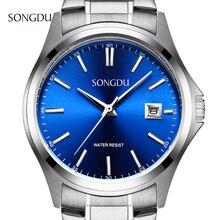 Мужчины часы люксовый бренд из нержавеющей стали кварцевые часы reloj hombre marca де lujo reloj де-лос-hombres наручные часы для мужчины