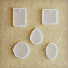 SNASAN 5pieces/set pendant silicone Mold Resin Silicone Mould handmade tool   epoxy resin molds