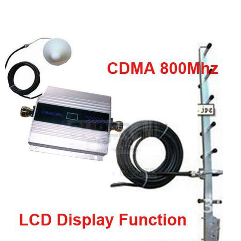 W/ 15Meter Cable 9dbi Yagi Antenna CDMA Booster Gain 55dbi LCD Display Function CDMA 850Mhz Mobile Phone Signal Booster Repeater
