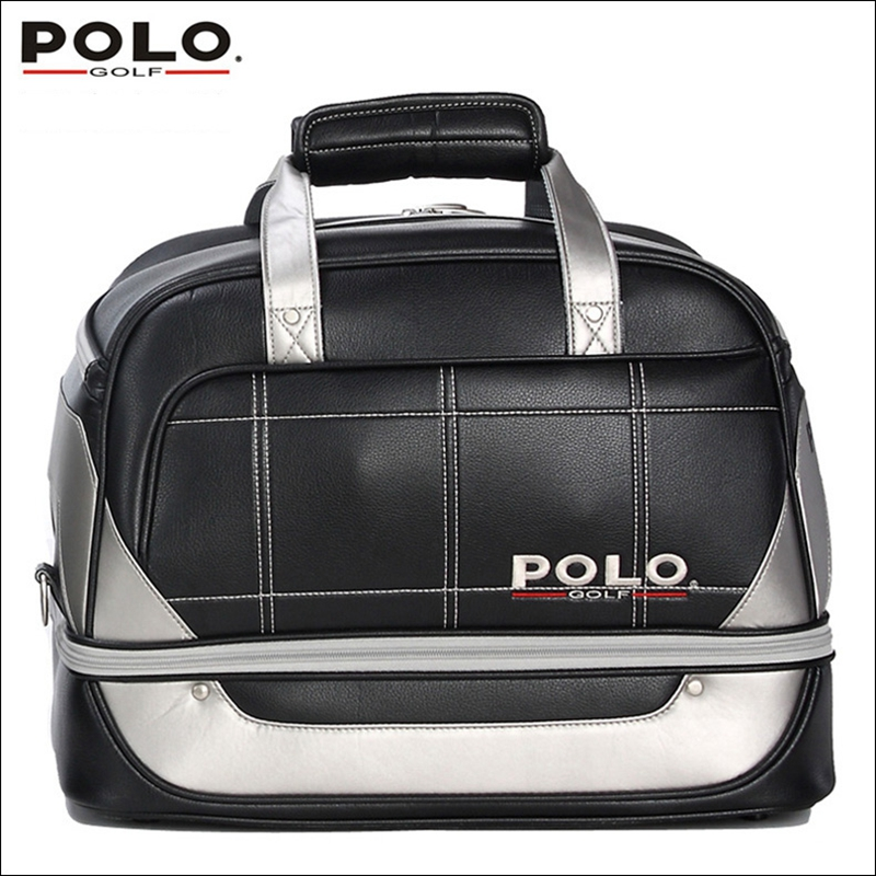 Brand POLO. Golf Clothing bag Shoes Bag Storage Clothing Bag Travel Tote Bag, Anti-Friction PU High Density Nylon 2017 large capacity waterproof nylon golf boston bag travel clothing bag with separate golf shoes bag embroidery logo