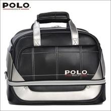 Brand POLO. Golf Clothing bag Shoes Bag Storage Clothing Bag Travel Tote Bag, Anti-Friction PU High Density Nylon