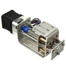 55mm/150mm Z ekseni sürgülü zamanlı kiti 3 eksenli CNC Z mil inme CNC Mini Z ekseni slayt DIY doğrusal hareket freze 3 eksenli oyma