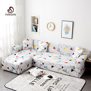 Image 1 - Parkshin Geometric Slipcover Stretch Sofa Covers Furniture Protector Polyester Loveseat Couch Cover Sofa Towel 1/2/3/4 seater