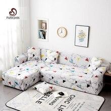 Parkshin هندسية الغلاف تمتد أريكة يغطي حامي أثاث البوليستر lovesate غطاء أريكة أريكة منشفة 1/2/3/4 مقاعد