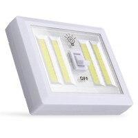 Jiguoor Batterie Angetrieben 4 COB LED Schalter Nachtlicht Wand Lampe Für Küche Schrank Garage Schrank Camp Notfall Lampe-in LED-Nachtlichter aus Licht & Beleuchtung bei