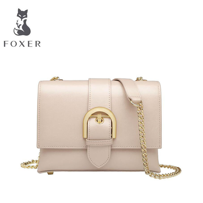 FOXER 2019 New women Leather bag handbags designer bag leather handbags fashion Chain small  bag women leather shoulder bagFOXER 2019 New women Leather bag handbags designer bag leather handbags fashion Chain small  bag women leather shoulder bag