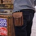 5.5 pulgadas de Cuero de Caballo Loco Hombres Bolso de La Cintura Bolsa de Gancho de Cinturón de Lazo Bolsas de Cigarrillos Key Case Bolsa de Dinero