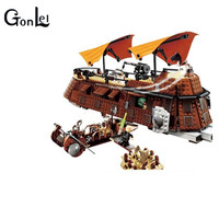 GonLeI 05090 821Pcs Genuine Series The Jabba S Sail Barge Set Children Educational Building Blocks
