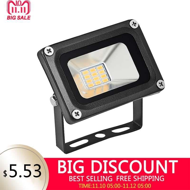 Hot Sell 12V 10W Waterproof IP65 LED Flood Light Floodlight Landscape Outdoor Flood Light Lighting Lamp Square Garden Spotlights цена