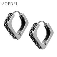 f031e9c66 AOEDEJ Black Huggies Small Hoop Earrings For Men Stainless Steel Punk  Circle Earrings Mens Pendientes Acero