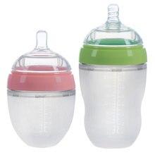 4 вида силиконовая бутылочка для новорожденных с ручкой